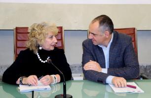 Il prefetto Simonetti con il presidente Menesini