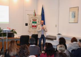 un altro momento dell'incontro a Viareggio