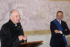 Il breve discorso di ringraziamento del vescovo