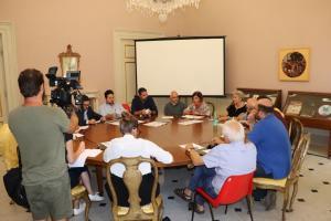 un momento della conferenza stampa in Provincia