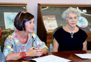 La consigliera provinciale Menchetti con l'ass. Vietina del Comune di Lucca