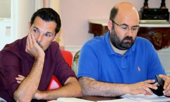 L'attore Marco Brinzi con il regista Stefano Ceccarelli