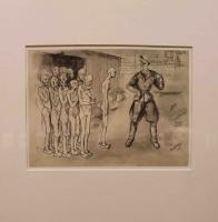 Disegno intitolato: La selezione penna inchiostro e acquerelli, 1/09/1943, 20,7 X 14,3 cm