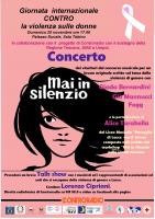 """Locandina concerto """"Mai in silenzio"""""""