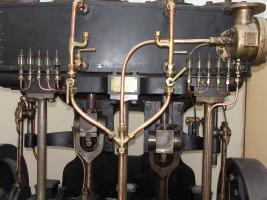 Particolare del motore a vapore