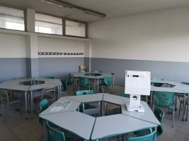 un'aula dell'istituto Piaggia