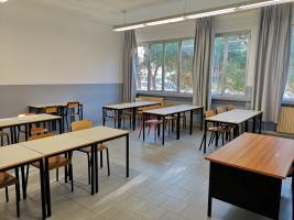 un'aula presso l'istituto Piaggia