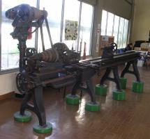 Tornio per affusti di cannoni navali: provenienza Arsenale di La Spezia (fine '800)