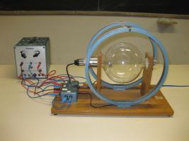 Tubo a scarica filiforme con bobine per campo magnetico con alimentatore